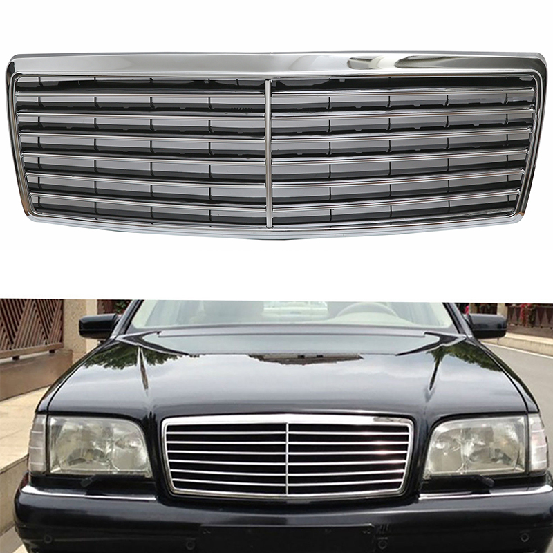 MagicKit For <font><b>Mercedes</b></font>-Benz <font><b>W140</b></font> 1994-1999 4Dr Sedan S600 <font><b>S500</b></font> New Car-styling Sport Grille Grill Chrome image