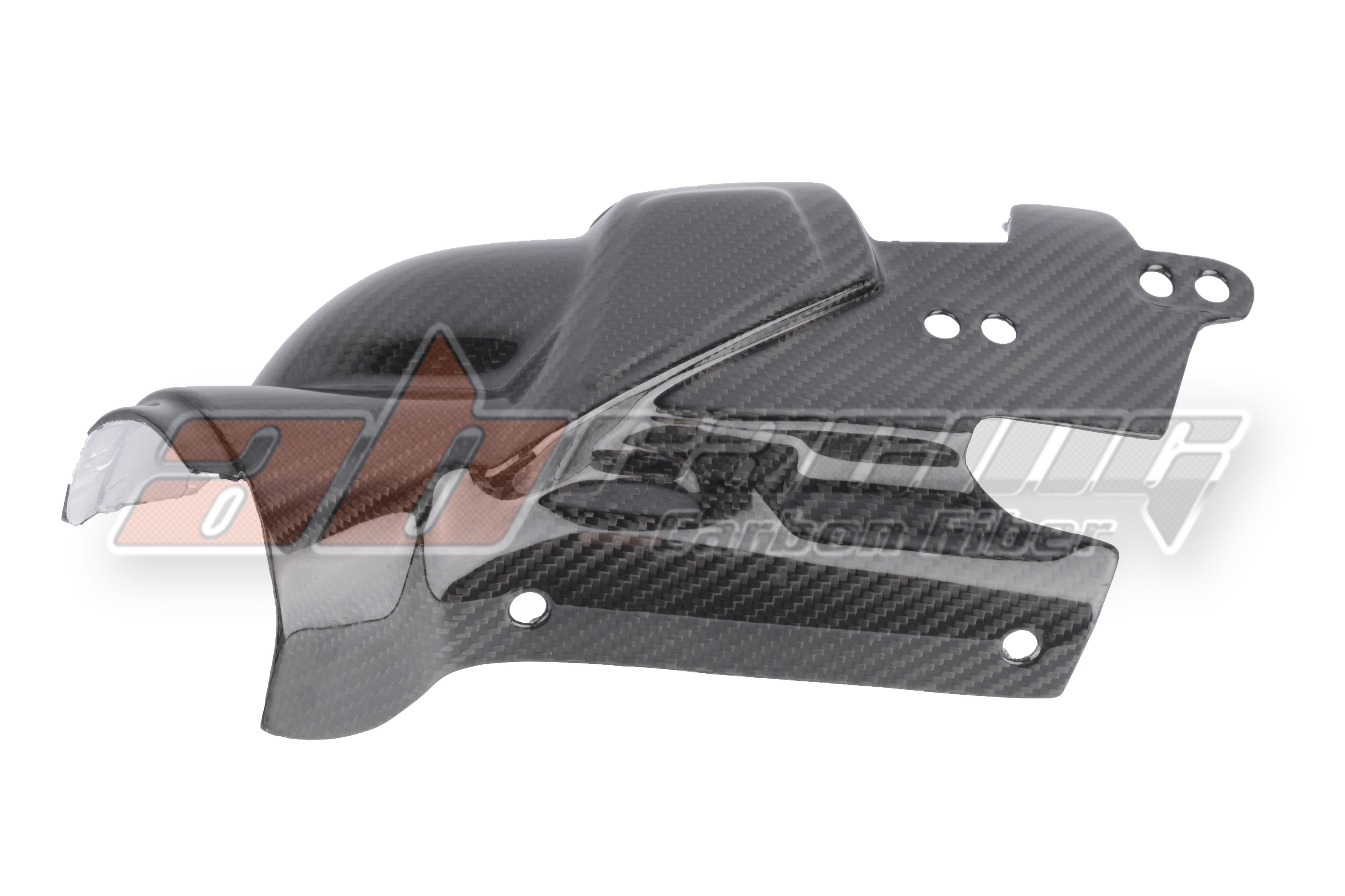 Brake Rearset Exhaust Heat Shield Guard Fairing  For Yamaha R1 2009 - 2014  Full Carbon Fiber 100%