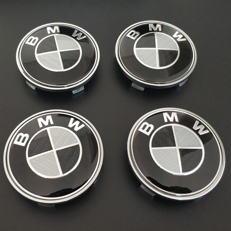 4pcs 68mm Car Tire Wheel Hub Center Caps Cover Badge Emblem X1 X3 X5 F10 F01 F11 F20 F30 F31 E34 E36 E70 E87 E39 E60 E46 E91 E92 image
