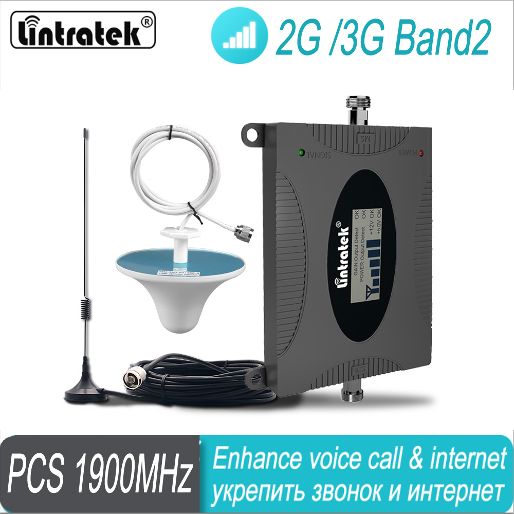 3G 1900MHz Cellular Signal Booster 2G Band2 PCS 1900 Repeater UMTS Data Mobile Signal Amplifier For Colombia Mexico Chile Brazil
