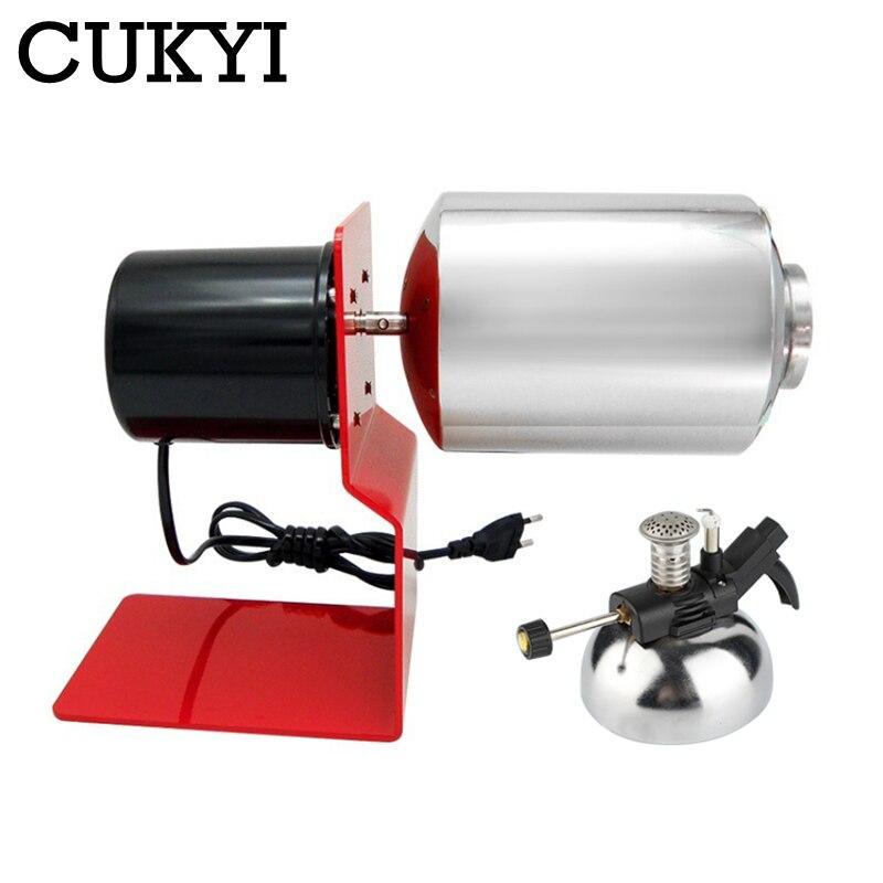 CUKYI Household Electric Coffee Bean Roaster Nuts Bean Baking Machine Grain Drying Roasting machine Drum Type gas stove heating