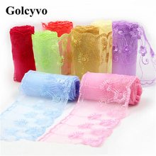 1Meter Colorful Gauze Lace Trims Colthing Skirt DIY Sewing Crafts Charms