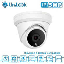 UniLook 5MP Turret POE IP Camera Built in Microphone CCTV Security Camera Hikvision Compatible ONVIF IP66 IR 30m H.265 dahua 6mp stellar bullet outdoor ip camera ipc hfw4631k i6 h 265 ir 150m built in 6leds ip67 poe security cctv camera