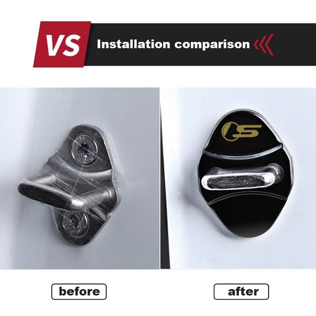 4pcs car Protection cover Car Door Lock car accessories interior For Jaguar F PACE E PACE XE XF R sport S Car sticker 3