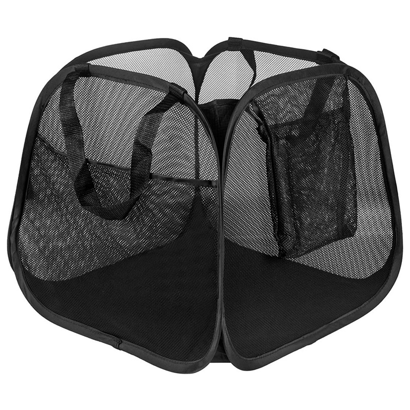 HLZS-Powerful Mesh Pop-Up Laundry Basket, Solid Bottom High Carbon Steel Frame For Easy Opening And Folding