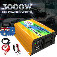 Solar Inverter 3000W P eak Voltage Transformer Converter DC 12V To AC 110V Car Inverter For Solar Inverter Home Appliances