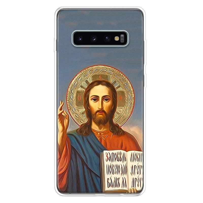 Jesus Christ God bless you Customer Case for Samsung Galaxy S10 S20 Ultra Lite NOTE 10 9 8 S9 S8 + S7 Edge J4 J6 J8 2018 Plus Ph