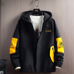 2020 Zip Up Men Jacket Hooded Spring Autumn Fashion Brand Slim Fit Coats Male Casual Bomber Jacket Mens Overcoat Plus size 4XL
