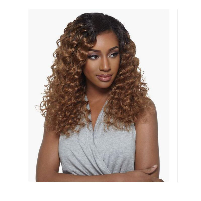 Lace Front Human Hair Wig With Baby Hair 13x6 Deep Part Lace Wig Kinky Curly 1BT27 Ombre Blonde Hair Glueless Wig