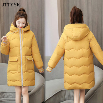 цена на 2020 Fashion Winter snow clothes coat Puffer Warm Down Jacket Long thicken Coat Women Hooded Parka jacket Outerwear Snow Wear