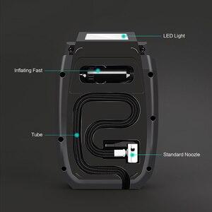 Image 4 - Fineed compresor de aire para coche, bomba de aire de 12v, Inflador de neumáticos de coche de 150PSI, 35L/Min, pantalla táctil automática con LED para automóvil