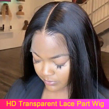 HD Transparent Lace Wig 13X4 13X6 Straight Lace Front Human Hair Wigs Brazilian Lace Front Wigs Pre plucked 180 Density Remy yyong 13x1 hairline straight lace front wigs 150% density 13x4 remy human hair lace front wigs transparent lace part wig 32in