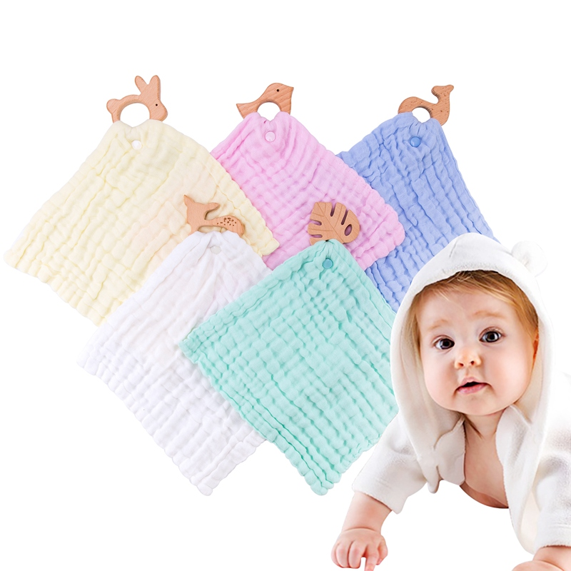 Baby Bibs Burp Clothes Baby Cloth Bibs Smock Burp Soft Saliva Handkerchief Toddler Feeding Burp Towel For 1-3 Age Muslin Girls