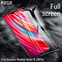 PZOZ für Xiaomi Redmi hinweis 8 Volle bildschirm abdeckung aus gehärtetem glas schutz film für Redmi hinweis 8 pro voll Abdeckung glas film