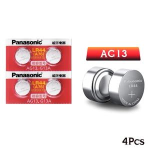 Image 5 - Panasonic 4 pezzi 1.5V zinco AG13 LR 44 LR44 bottone a bottone orologio a bottone orologio puntatore Laser scala batterie GP76 GPA76 L1154 SR44 SR44W