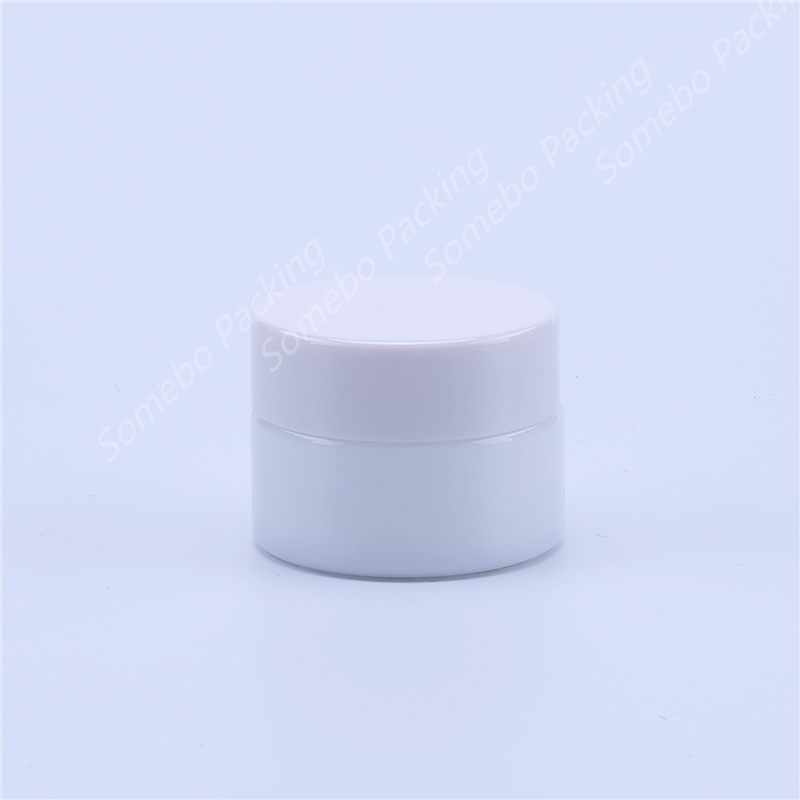 15g Travel Empty Facial Cream Glass Jar Cosmetic Make Up  White Porcelain Glass Cosmetic Eye Cream Bottle