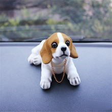 Car Ornament Nodding Dog Shakes His Head Shaking Styling Cute Bobblehead Doll For Interior Decoration