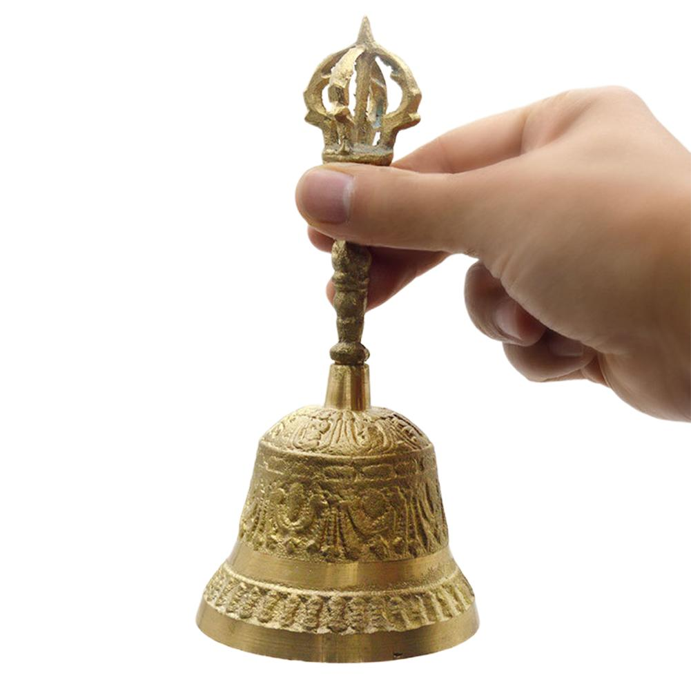 Tibetan Buddhist Meditation Bell And Dorje Set Shiplies Extra Loud Multi-Purpose Hand Call Bell