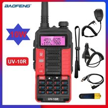 10W Powerful Walkie Talkie Baofeng UV-10R 10W VHF UHF Two Way CB Radio Station Ham Radio Transceiver USB Charging 2021 New
