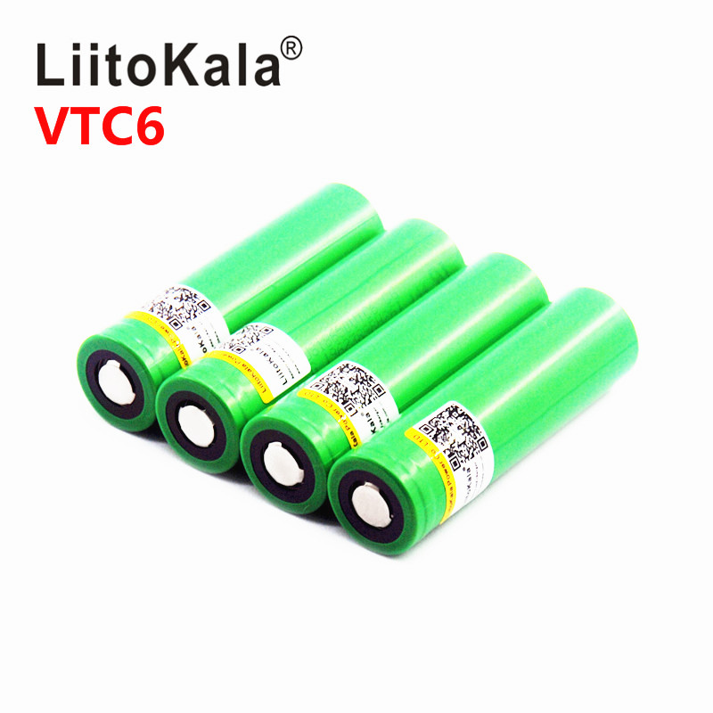 hot  Liitokala VTC6 3.7V 3000mAh 18650 Li-ion Battery 30A Discharge for US18650VTC6 Tools e-cigarette batteries