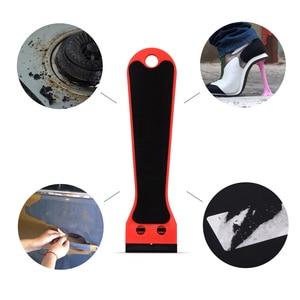 Image 3 - Ehdis segurado raspador de barbear vinil carro embrulho rodo com 10 pçs lâmina de plástico matiz da janela decalque adesivo removedor ferramenta limpeza