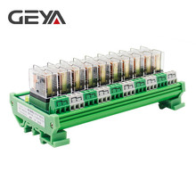 цена GEYA NG2R Omron Relay Module 10 Channel 12VDC 24VDC for PLC Protection Plug in Relay онлайн в 2017 году