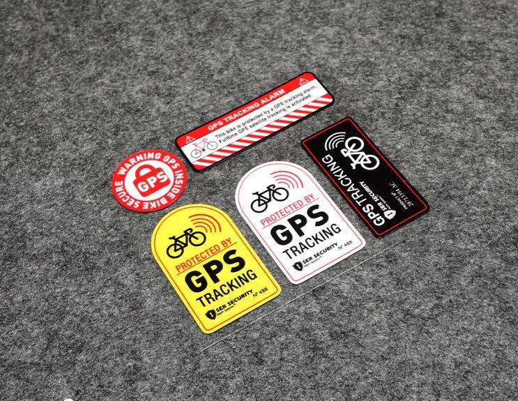 Светоотражающая виниловая наклейка с сигнализацией, защищенная GPS-трекером, мотоциклетная наклейка, противоугонная наклейка для велосипед...
