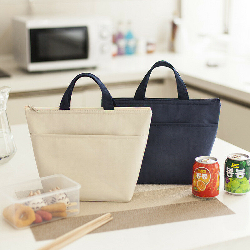2019 Newest Hot Solid Lunch Bag Insulated Women Men Tote Thermal Box Cooler Travel Picnic Carry Bag Lunch Bags