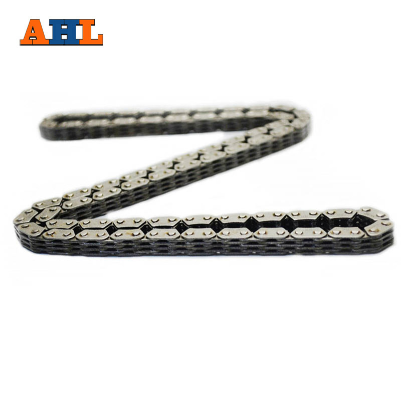 AHL Motorcycle Cam Chain for Kawasaki ZZR250 ZZR 250 KLE250 KLE 250 Silent Timing Chain 124 links