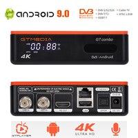4k/8K Android DVB TV BOX GTMEDIA GTCOMBO DVB-S2X + DVB-T2 H.265 10 Bit Satellite Terrestrischen TV empfänger Decoder, m3U Googel Tuner
