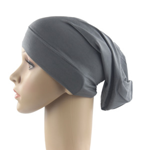 Image 3 - Muslim Women Girls Scarf Cap Cotton Breathable Hat Womens Turban Elastic Cloth Head Cap Hat Ladies Hair Accessories Wholesale