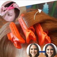 Pinza de pelo esponjosa Natural para el cabello, accesorios de plástico para el cabello rizado, pinza de peinado, horquillas de Color caramelo