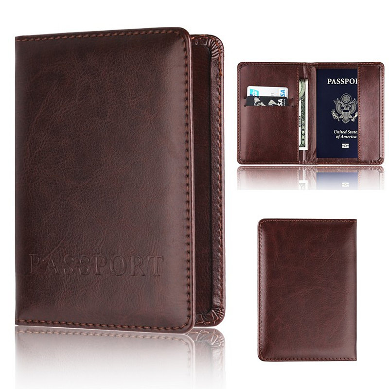 Bycobecy Men And Women Business Rfid Anti-theft Purses Passport Holder Designer Travel Passport Cover Case Credit Card Holder
