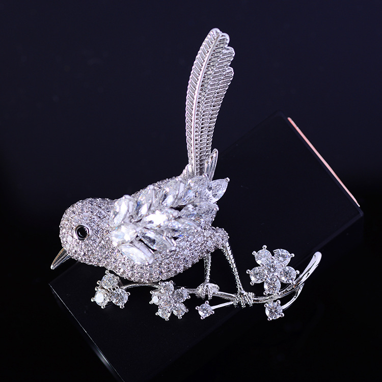 Bird Brooch Pins Magnet Pin Cute Pins Accessories for Clothes Decoration Brooch Pins Fine Jewelry Copper Brooch Zircon Brooche-4