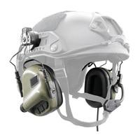 EARMOR Tactical M32H MOD3 Headset & RAC Rail Adapter Set Noise Canceling Military Aviation Communication Softair Headphones