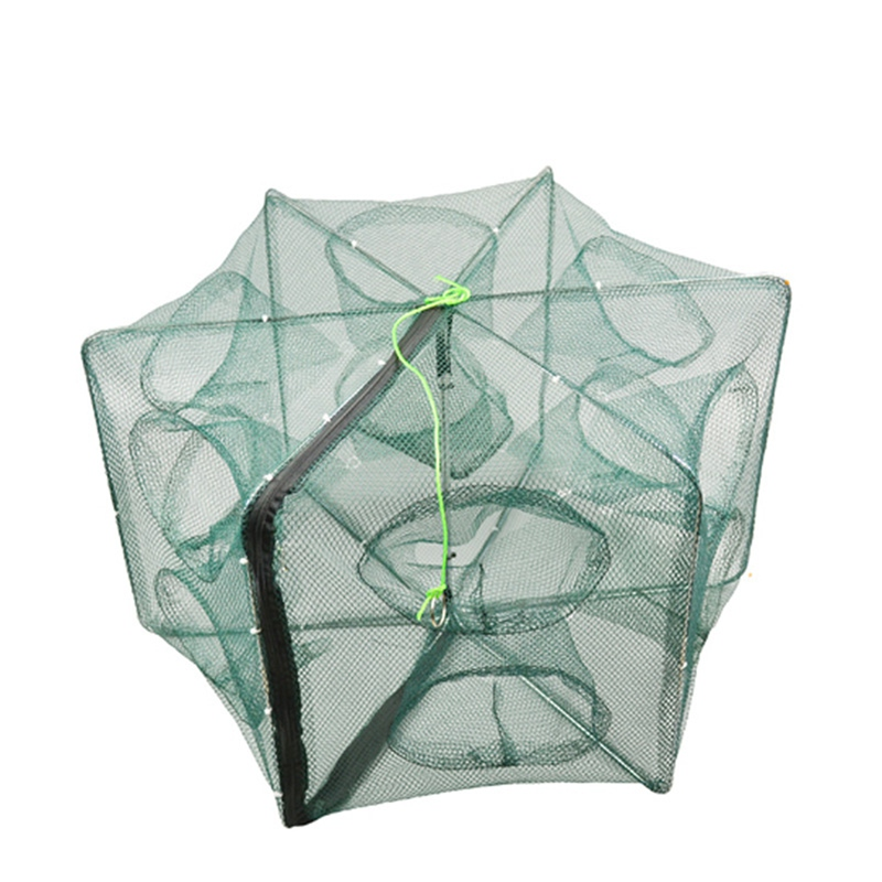 Foldable Crab Net Trap Cast Dip Cage Fishing Bait Fish Minnow Crawfish Shrimp JF