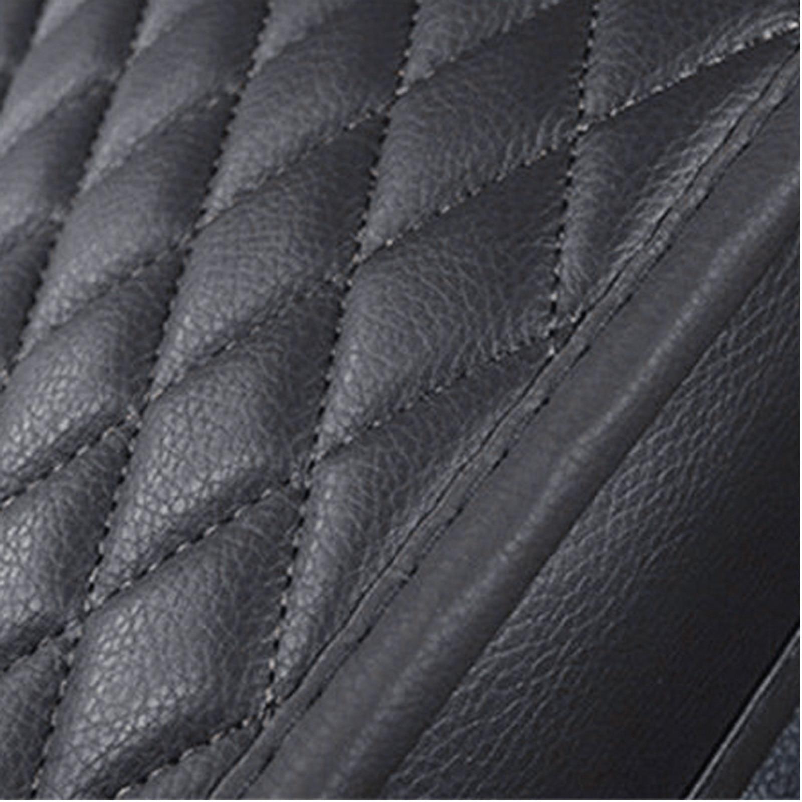 1pc Universal Backless Car Seat Cover PU Pad Premium PU Black Interior Accessories Car Seat Cover Parts