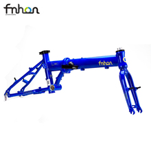 "Fnhon Zephyr Alloy 6061 Folding Bike Frame Fork 16"" 305 349 V Brake Frameset Bicycle Parts"