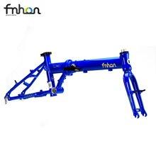 Fnhon cadre de vélo pliant avec fourche 16 pouces, en alliage Zephyr, pièces de frein de frein 6061 305 V