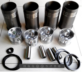 1 set of piston ,piston rings , piston pins and cylinder liner and O ring seals for K4100D K4100ZD diesel engine piston ring for weifang 495 k4100 r4105 r6105 diesel engine spare parts