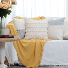 Patchwork Sofa Cushion Cover Decorative Xinjiang Cotton with Tassel Eco-friendly Fabric for Pillow Case Sofa Cushion Bed Cushion
