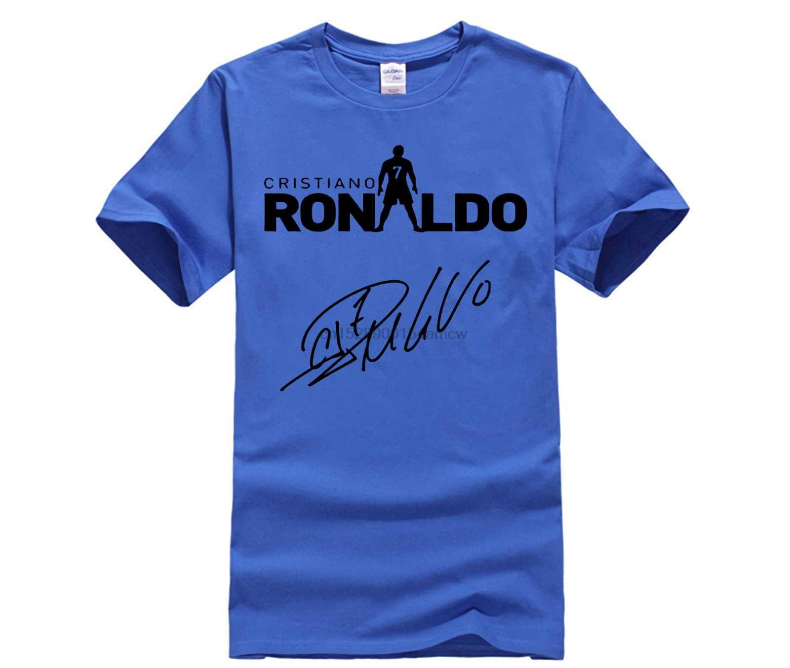 Cristiano ronaldo signé CR7 t-shirt cool T-shirts hommes col rond mode T-shirts fans cadeau