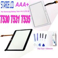 1 삼성 갤럭시 탭 4 10.1 LTE 3G T530 T531 T535 SM-T530 SM-T531 SM-T535 터치 스크린 디지타이저 유리 무료 도구