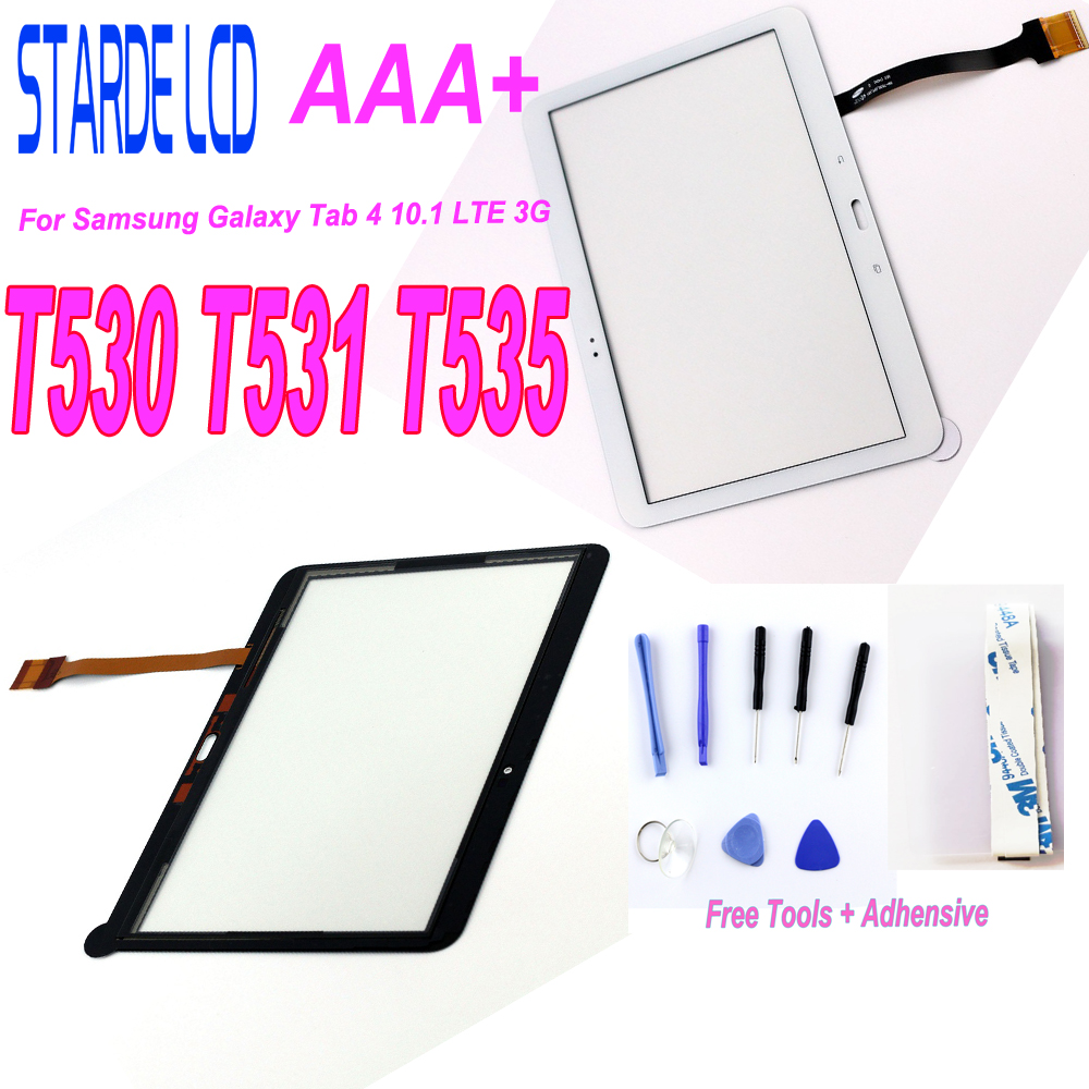 1Pcs For Samsung Galaxy Tab 4 10.1 LTE 3G T530 T531 T535 SM-T530 SM-T531 SM-T535 Touch Screen Digitizer Glass With Free Tools