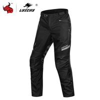 LYSCHY Waterproof Motorcycle Pants Winter Men Motorbike Riding Chaqueta Moto Pants Motorcycle Protective Gear Armor Pants
