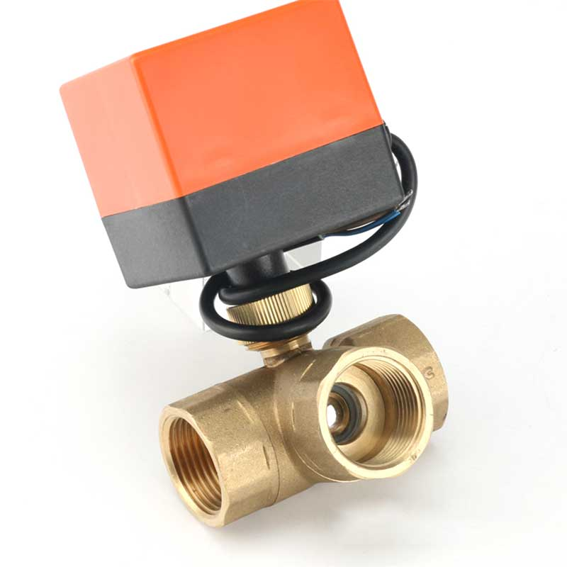 DN15 / 20/25 3-way Motorized Ball Valve Three-way Electric Control Two-way AC 220V LSD Tool Plubing Disc Brass Ball Valve