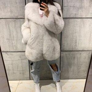 Image 5 - الحقيقي الفراء معطف السيدات الفراء الطبيعي معطف كامل بلت فرو الثعلب معطف