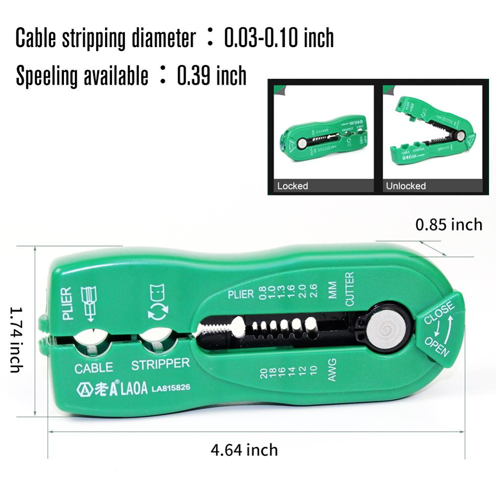 Přenosné odizolovací kleště LAOA Mini Network Wire Stripe pro - Ruční nářadí - Fotografie 3