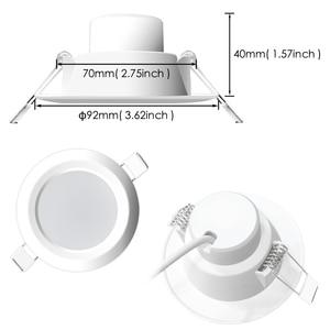 Image 4 - 4 個ledダウンライトラウンド調光対応 7 ワットrgbw ledキッズ天井凹型スポットライト赤外線コントローラ変色ac 110v/220v