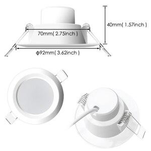Image 4 - Spot lumineux circulaire encastrable pour le plafond, éclairage à intensité réglable, 7W, RGBW LED, avec contrôleur infrarouge, 4 pièces, LED, AC 110/220V